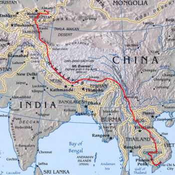 Überblickskarte Trans-Asia